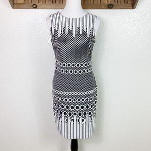 Julia Jordan Monochrome Polka Dot Ponte Dress